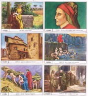 19061. Serie Completa 6 Cromos  GALLICROMO, Serie 2, DANTE, Poeta Italiano Medieval - Historia