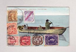 Ansichtskarte 1909-11 Von Buenos Aires 17.5.1909 Durch Chile Honduras Uruguay Egypten USA Deutschland Portugal - Buenos Aires (1858-1864)