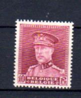190F Roi Albert 1er De Belgique Avec Képi    324*, Cote 60 €, - 1931-1934 Képi