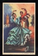 Ilustrador *Giralt Lerin - Bulerias. Sevilla* Ed. P. Dümmatzen Serie 1635. Nueva. - Ilustradores & Fotógrafos