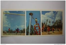 RUSSIA. KICHERA  (Siberian Village). Football Game At Stadium. Volleyball. OLD USSR PC. 1978. Long Format - Volleyball