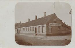 RONNE (BORNHOLM), Dam & Olsens Byggeforretning (Building Business) & Ligkistemagasin - Rose Street & Smalleg - Denmark