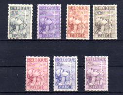 Antituberculose 1933  BELGIQUE « Croix De Lorraine », 377 / 383*, Cote 265 €, Centrage Agréable - Neufs