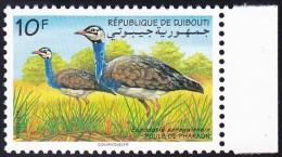 Timbre-poste Neuf** - Outarde Du Sénégal Poule De Pharaon (Eupodotis Senegalensis) - N° 718C (Yvert) - Djibouti 1994 - Dschibuti (1977-...)