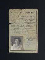 CARTE D'IDENTITE DES ATELIERS ET CHANTIERS DE LA LOIRE (44) AVEC LE CAHET DES AUTORITES ALLEMANDES - Documents Historiques