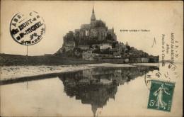50 - LE MONT-SAINT-MICHEL - échafaudages - Tampon - Le Mont Saint Michel