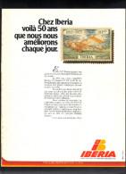 Page De Revue De 1979. IBERIA . Lignes Aériennes Internationales D'Espagne . - Publicités