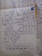 PLAN D'ELISABETHVILLE (EVILLE) Congo Ex Belge - Années 40/50 - Cartes