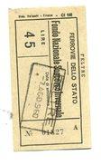 Biglietto FS Fondo Nazionale Soccorso Invernale - Non Classificati
