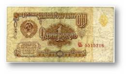 RUSSIA - 1 Ruble - 1961 - Pick 222 - Serie ЧЬ - U.S.S.R. - 2 Scans - Russia