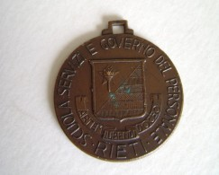 RIETI  1950  CORSO AUC   CARABINIERE  MILITARE   MEDAGLIA  MED - Badges & Ribbons