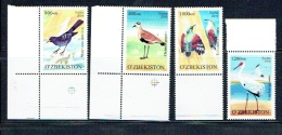 OUZBEKISTAN UZBEKISTAN, OISEAUX 4 Valeurs, Neufs / Mint. R506 - Ouzbékistan