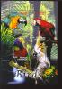 ANTIGUA & BARBUDA   2708  MINT NEVER HINGED MINI SHEET OF BIRDS  ; PARROTS - Unclassified