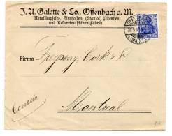DR MiNr  87 I A Als EFOFFENBACH - MONTREAL/Can 30.5.08 - Deutschland