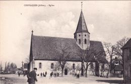 CPA Animée (03) CHEVAGNES  L' Eglise - France