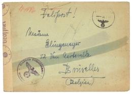 BELGIQUE 1943 FELDPOST POUR BRUXELLES  - CENSUREE - Guerre 40-45