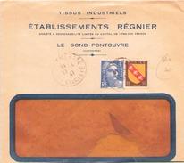 FRANCE ENVELOPPE DU LE GOND PONTOUVRE  DU 17 JANVIER 1947 - Covers & Documents