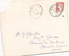 FRANCE ENVELOPPE DE POMMIERS POUR VILLENEUVE SUR YONNE DU 12 AOUT 1964 - Francia