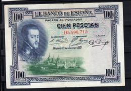 ESPAÑA 1925   100 PESETAS. FELIPE II   MBC   B867 - 100 Pesetas