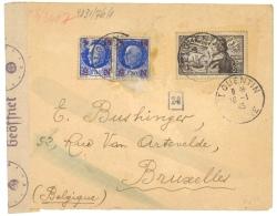 FRANCE 1943 LETTRE DE ST QUENTIN A BRUXELLES - CENSUREE - France