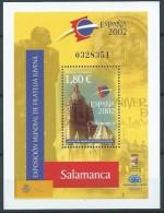 ESPAGNE SPANIEN SPAIN ESPAÑA 2002 PHILATELIC EXHIBITION SALAMANCA M/S ED HB3943 YV F106-3520 MI B3799 SG 3921 SC S3183 - Blocs & Hojas