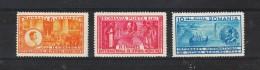 1932  - 9 Congres Medical International Mi No 443/445 Et Yv No 446/448 MH / MNH - Ungebraucht