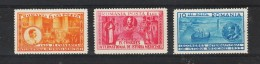 1932  - 9 Congres Medical International Mi No 443/445 Et Yv No 446/448  MNH - 1918-1948 Ferdinand, Carol II. & Mihai I.