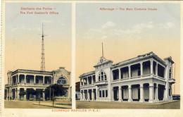 MOÇAMBIQUE, MOZAMBIQUE, LOURENÇO MARQUES, Capitania E Alfandega, 2 Scans - Mozambico