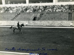 Londres London Olympia Horse Show Equitation Dressage Lieutenant Lavergne Needle Ancienne Photo 1938