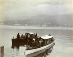 Italie Lac De Come Region De Bellagio Excursion Alpine Ancienne Photo Amateur 1910 - Places