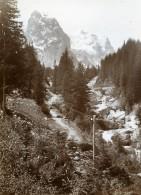 Suisse Wellhorn Wetterhorn Excursion Alpine Alpes Montagne Ancienne Photo Amateur 1910 - Places