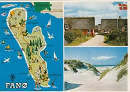 FANO (Norwegen, Fanø) . Karte Gel., Abgelöste Marke - Norwegen