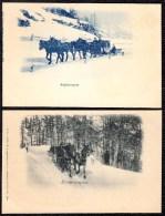 SUISSE 1900 *** SCHLITTENPOST - Poste Par Traineau - Post By Sleigh *** WIE NEU !! - Poste & Facteurs
