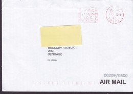 Taiwan Air Mail Stampless P.P. Postage Prepaid TAIPEI 2012 Cover Brief BRØNDBY STRAND Denmark - 1945-... République De Chine