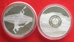 """Belarus 20 Roubles 2016 """"Olympic Rio - Canoeing And Kayaking"""" Silver PROOF - Belarus"""