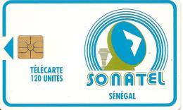 CARTE-PUCE-SENEGAL-120U-GEMA-SONATEL-V°Sans N°-UTILISE-TBE - Sénégal
