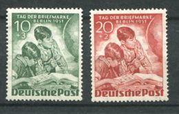 173 ALLEMAGNE Berlin 1951 - Yvert 66/7 - Journee Du Timbre Enfant Catalogue Album - Neuf ** (MNH) Sans Charniere - Neufs