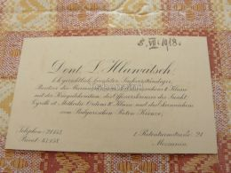 Wien Austria Mezzanin ? Dent. L. Hlawatsch K.k. Gerlichtlich Beeideter Marierkreuzes Offizierskreuzes Sankt Visitenkarte - Alte Papiere