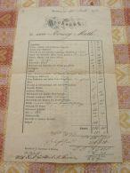 Altötting Rechnung Germany 1872 - Non Classés