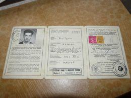 International Student Identity Card Praha Prague Budapest Ceska Republica Hungary - Alte Papiere