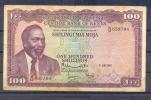 Kenia Keniyata  100 Shillings 1968  RARE Fine - Kenia