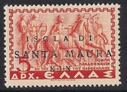 1941 Santa Maura Italian Occupation Local Stamp MNH ** - Ionische Eilanden