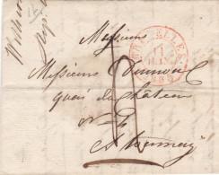 Lettre De Bruxelles Vers TOURNAY 4 Décimes 11 Juin 1835 - 1830-1849 (Belgique Indépendante)