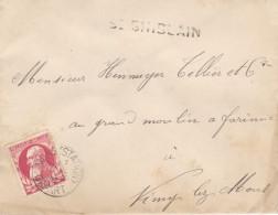 N° 74 / LSC  GRIFFE De SAINT GHISLAIN Vers Nimy - 1905 Grosse Barbe