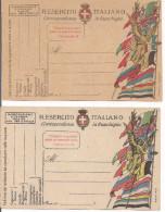 R.ESERCITO ITALIANO,CORRISPONDENZA IN FRANCHIGIA,2 NUOVE,STAMPA MESIRCA-VICENZA,STAMPA STADERINI-ROMA - 1914-18