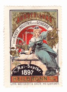 Vignette - Ausstellung - Für Kunst Jndustrie Und Gewerbe - 1897 - Heilbronn - Erinnofilia