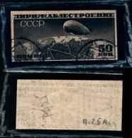 83263) Russia-1931-costruzione Dirigibile-n.A23- Tipo B-usato- Cat 50 Euro Non Dentellato - Usati