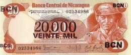 NICARAGUA 20000 CORDOBAS 1987 P-147 UNC [NI441a] - Nicaragua
