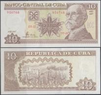 2007-BK-3 CUBA 10$ MAXIMO GOMEZ UNC 2007 PLANCHA - Cuba