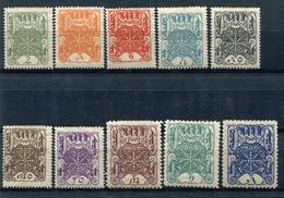 TANNU TUVA YR 1926,SC 1-10,MH *,WHEELS OF TRUTH - Tuva